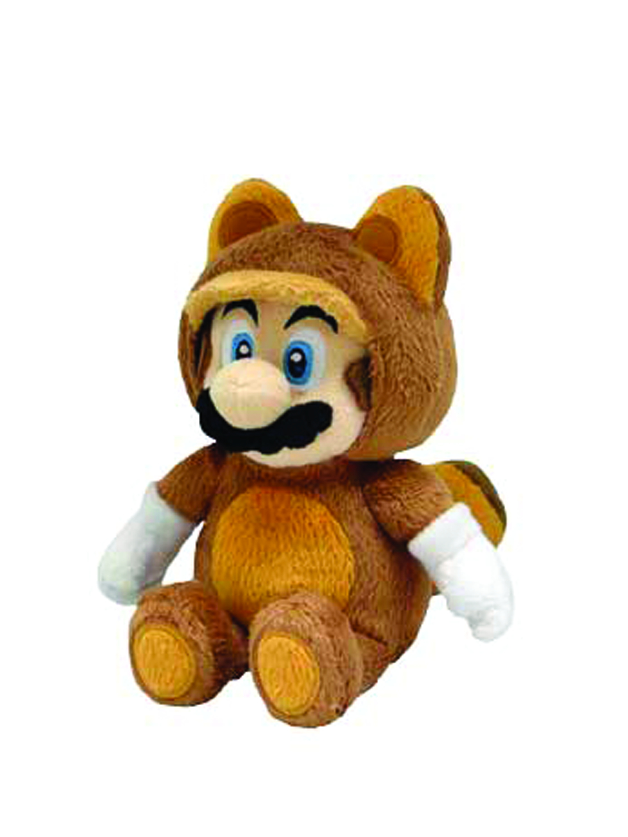 SUPER MARIO BROS TANOOKI MARIO 9IN PLUSH