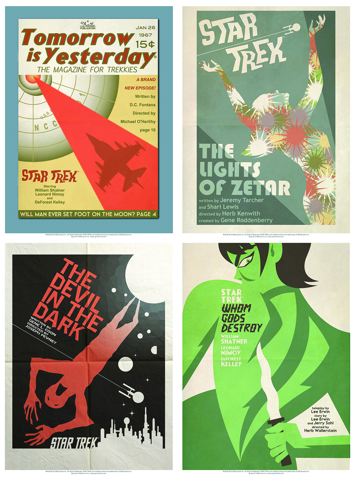 STAR TREK TOS ART PRINTS SET 12