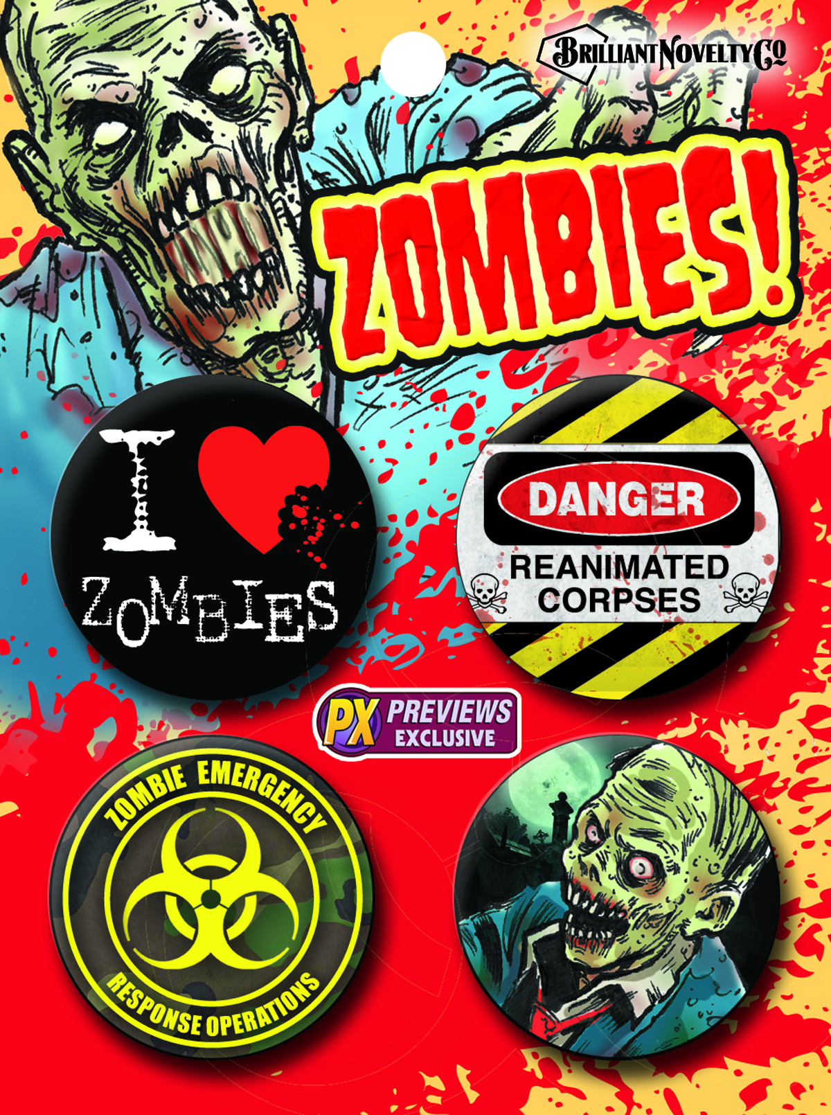 ZOMBIES PX 4PC PIN SET
