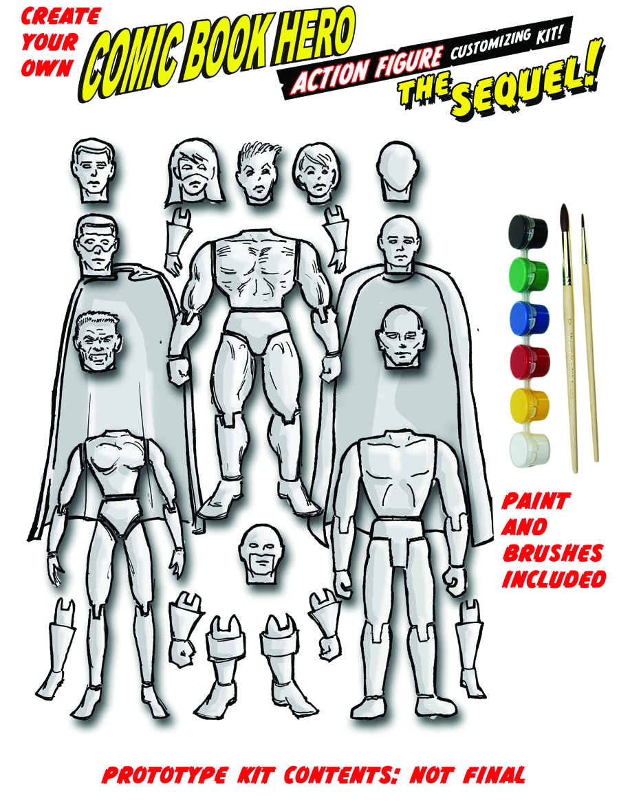 CREATE YOUR OWN COMIC BOOK HERO SEQUEL AF PX KIT