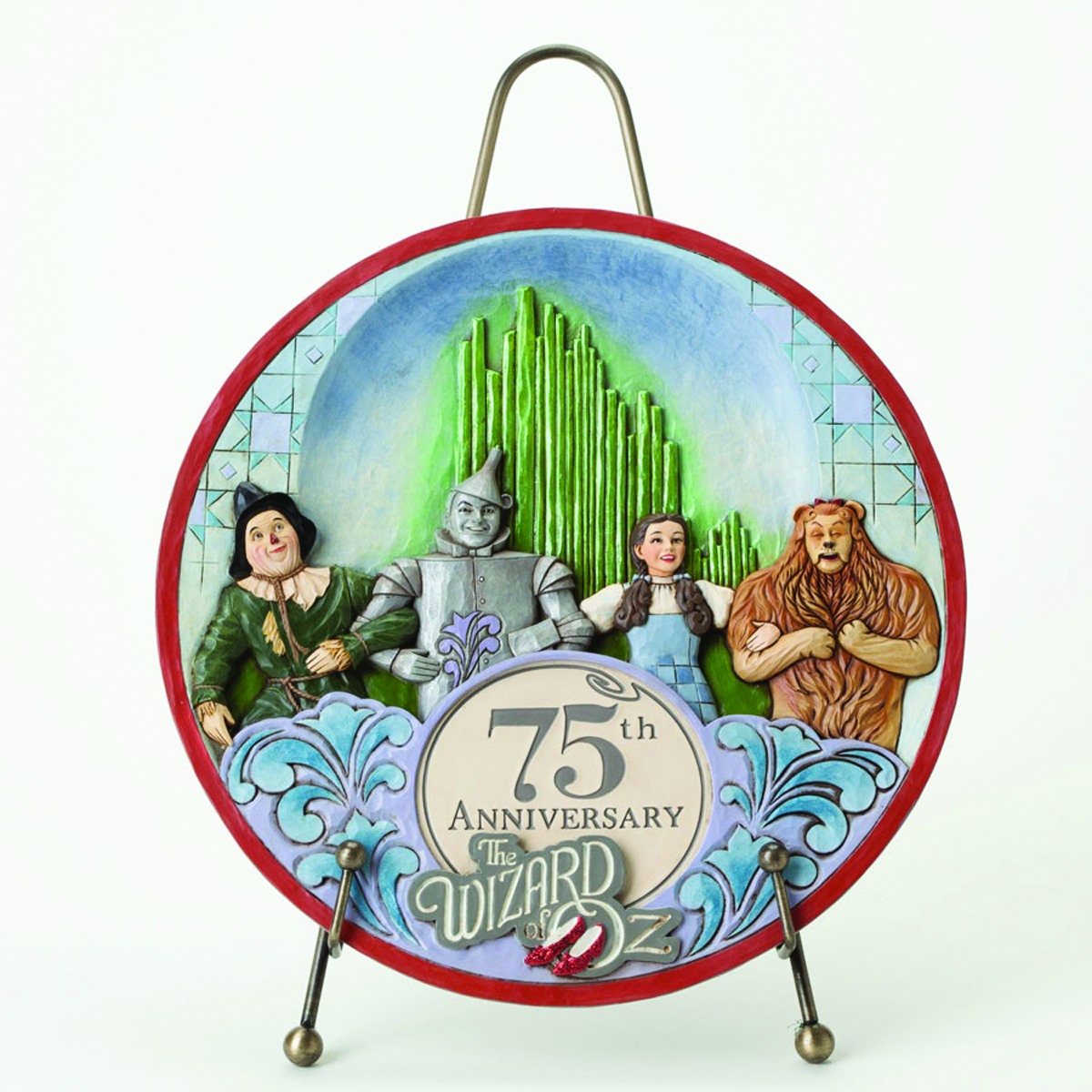 JIM SHORE WIZARD OF OZ 75TH ANNIVERSARY PLATE