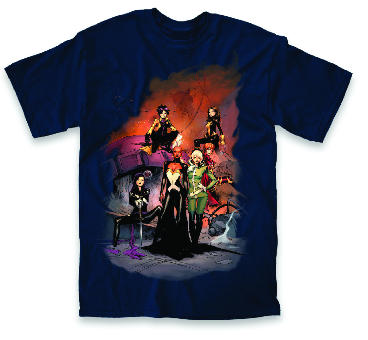 X-MEN GROUP LADY COVER PX NAVY T/S LG