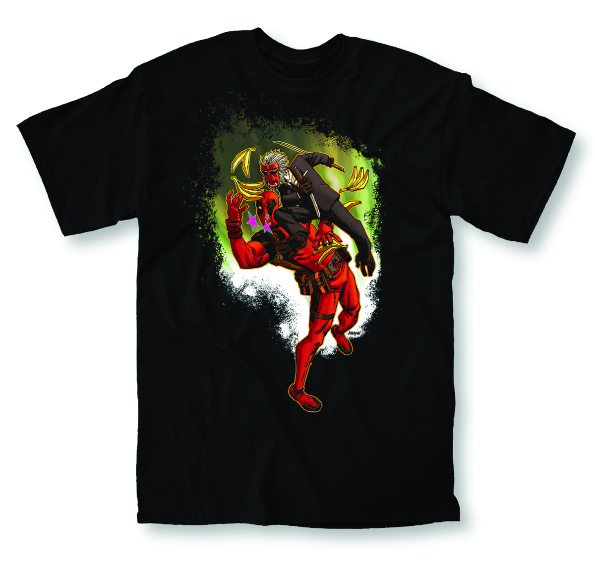 DEADPOOL SALTED EARTH A PX BLK T/S LG