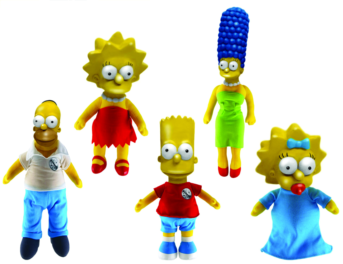 SIMPSONS 8-IN ROTO HEAD PLUSH ASST