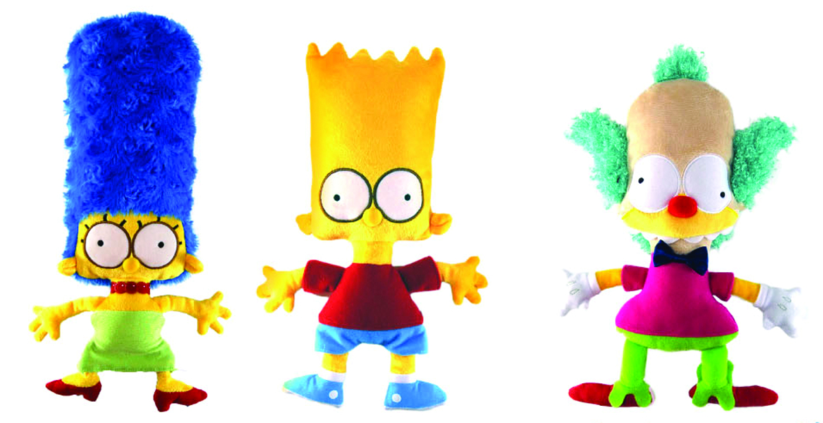 SIMPSONS 6-IN FLAT PLUSH ASST