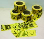 ZOMBIE OUTBREAK ZONE CAUTION TAPE PX 500FT ROLL
