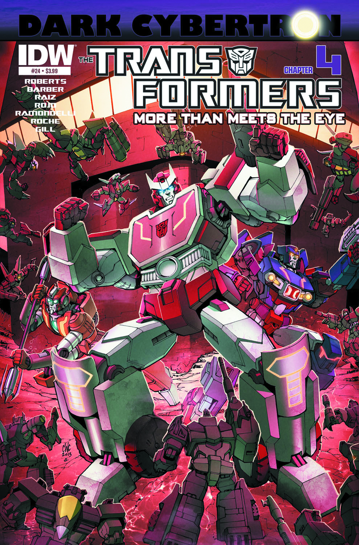 TRANSFORMERS MORE THAN MEETS EYE #24 DARK CYBERTRON PART 4