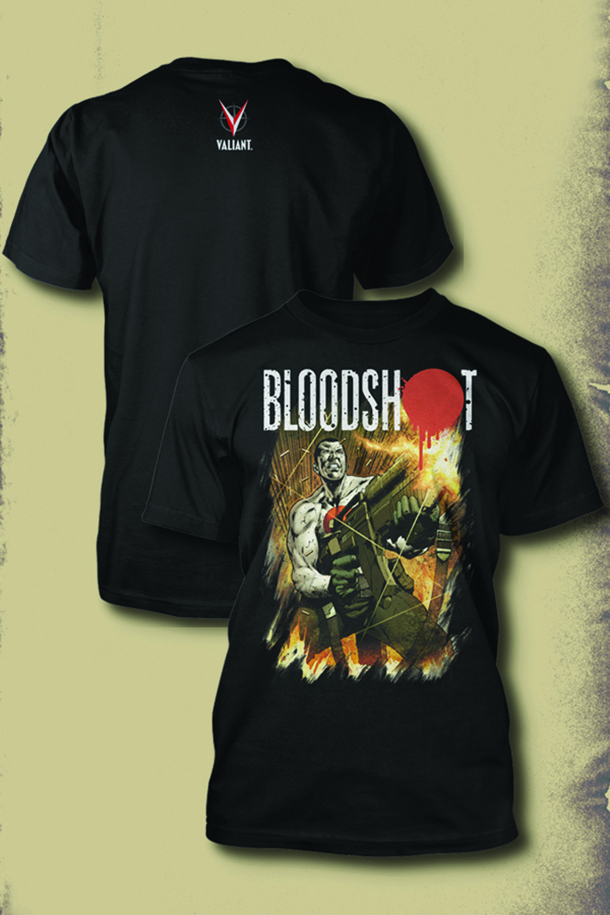 BLOODSHOT BY HAIRSINE BLK T/S LG