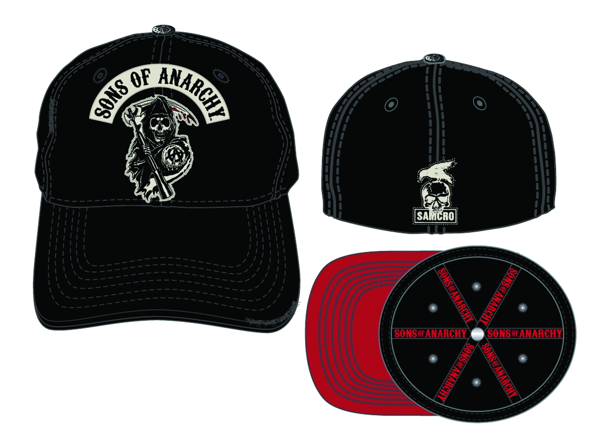 SONS OF ANARCHY STRETCHFIT BASEBALL CAP