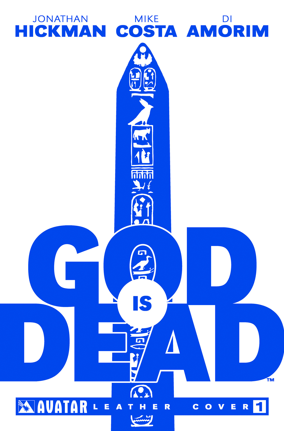 GOD IS DEAD #1 WHITE LEATHER CVR