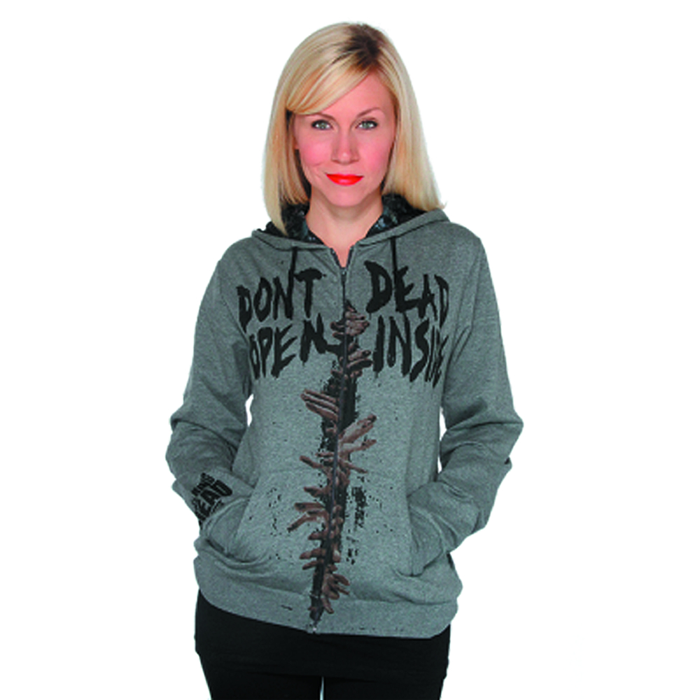 WALKING DEAD DEAD INSIDE HOODIE JRS T/S XL