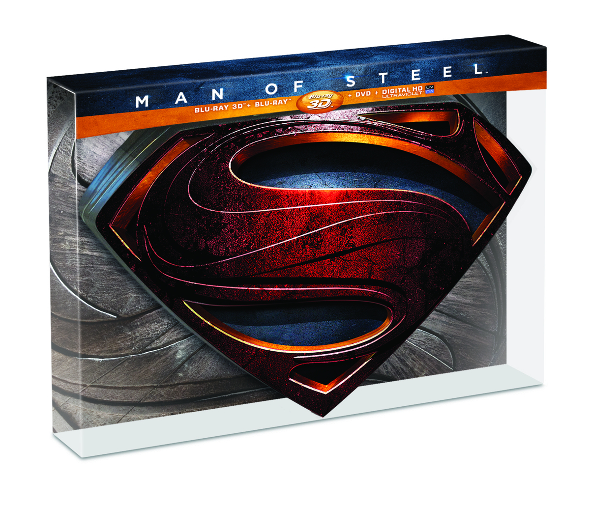 MAN OF STEEL 3D BD + BD + DVD COLL ED