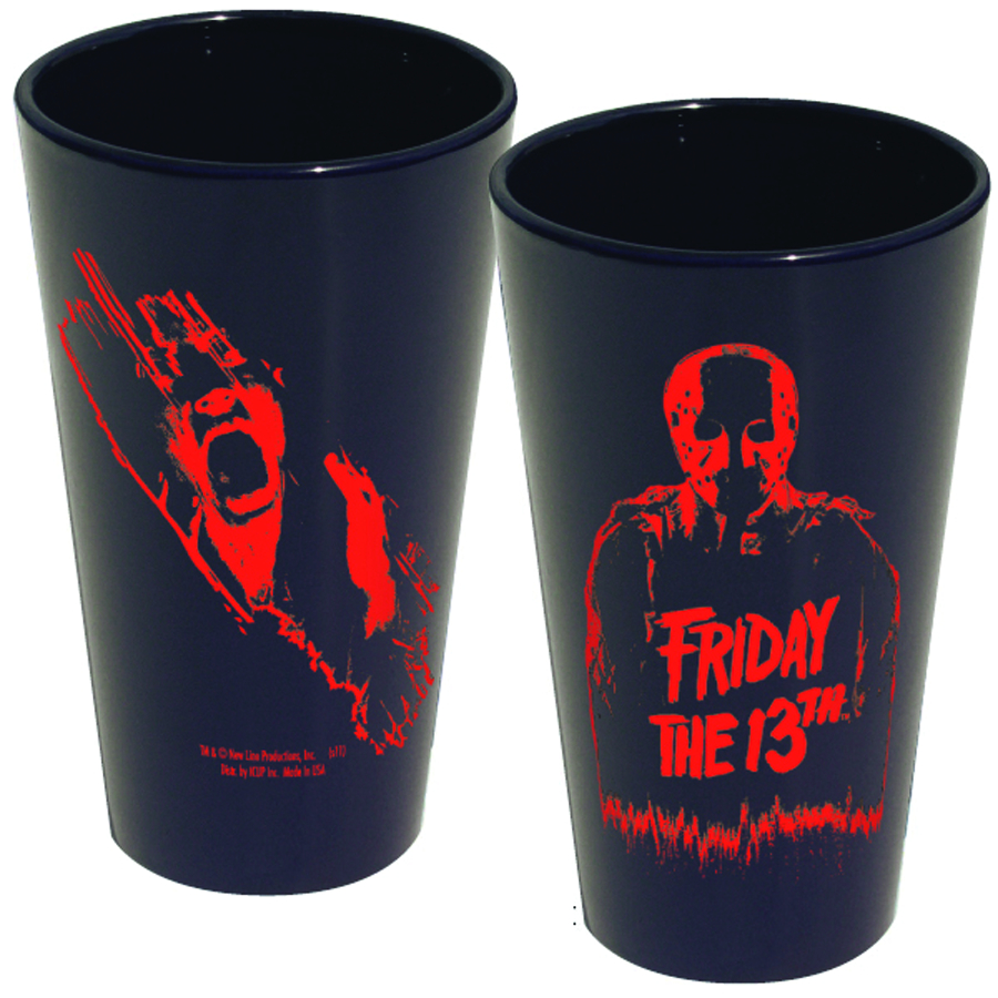 FRIDAY THE 13TH JASON SILOHOUETTE PINT GLASS