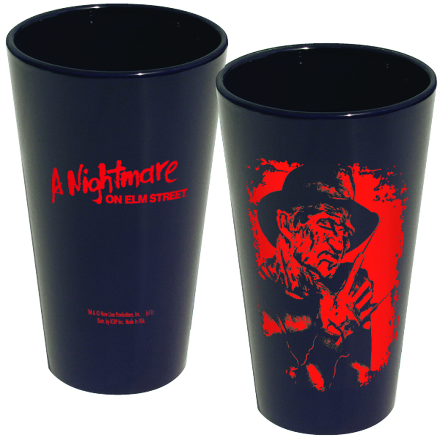 NIGHTMARE ON ELM ST FREDDY SILOHOUETTE PINT GLASS