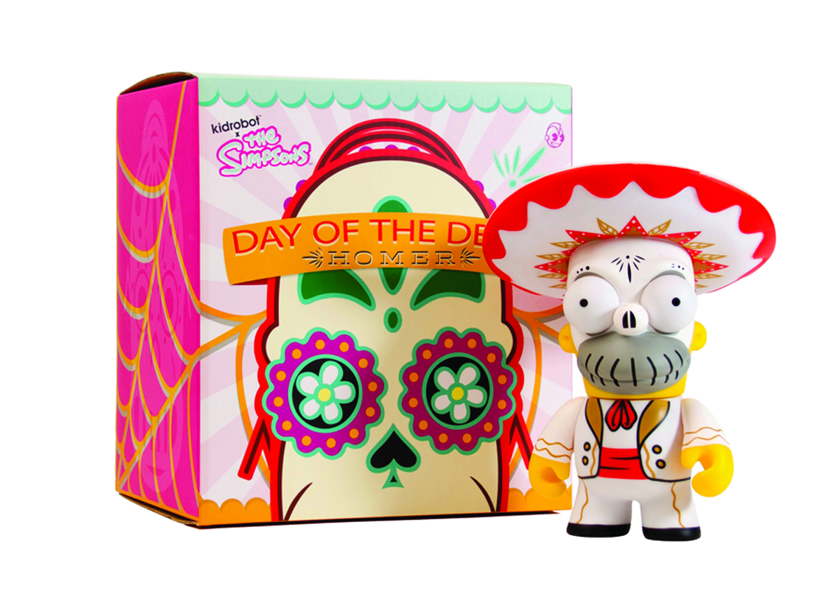 SIMPSONS HOMER DAY OF THE DEAD MARIACHI VINYL FIG