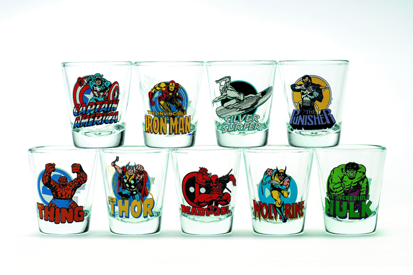 TOON TUMBLERS CAPTAIN AMERICA MINI GLASS