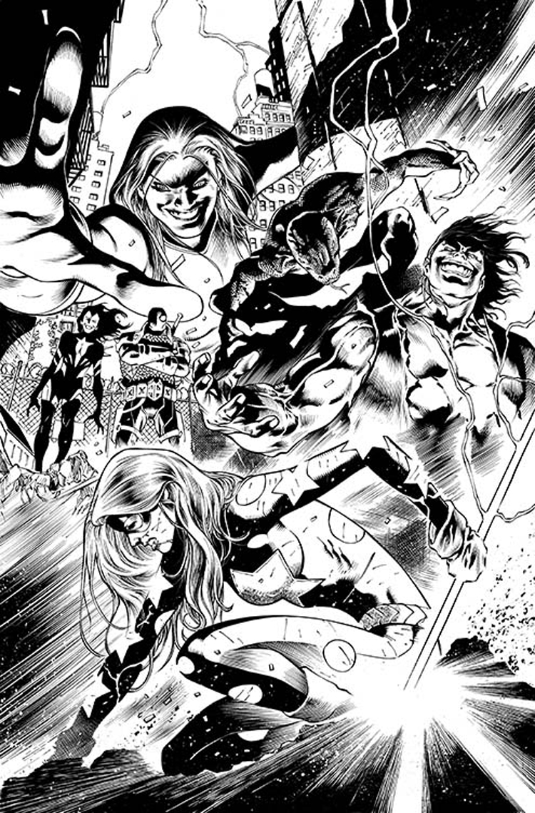 JUSTICE LEAGUE OF AMERICA #10 BLACK & WHITE VAR ED