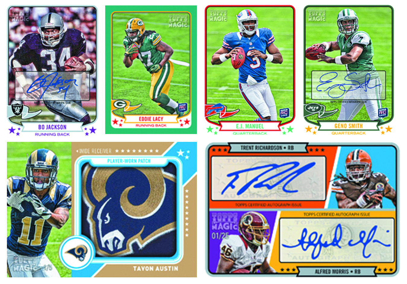 TOPPS 2013 MAGIC FOOTBALL T/C BOX