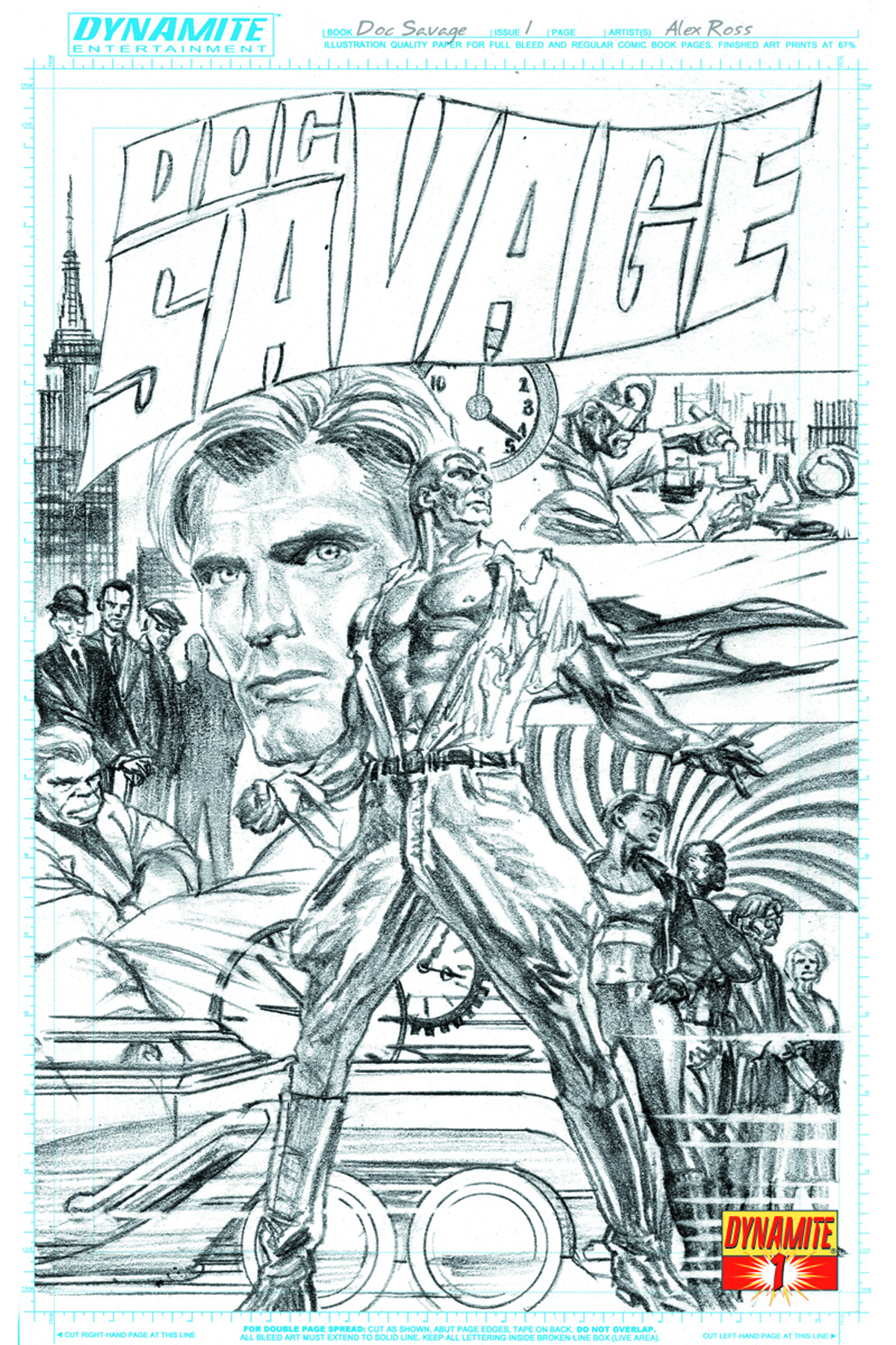 DOC SAVAGE #1 200 COPY ROSS B&W INCV