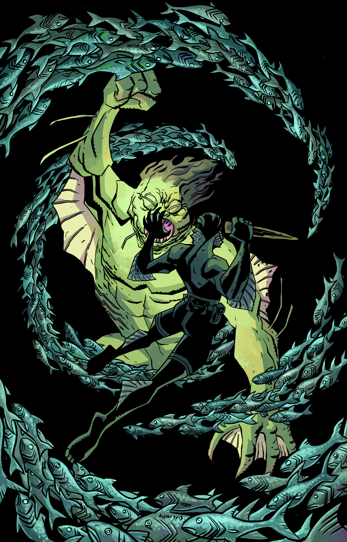 ABE SAPIEN #8 20 COPY OEMING VAR