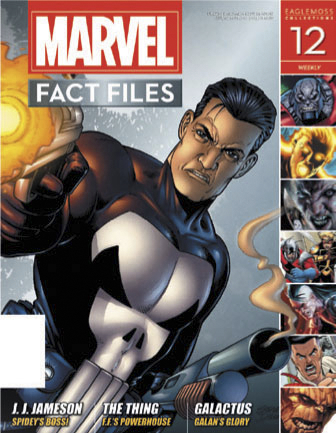 MARVEL FACT FILES #12 PUNISHER COVER