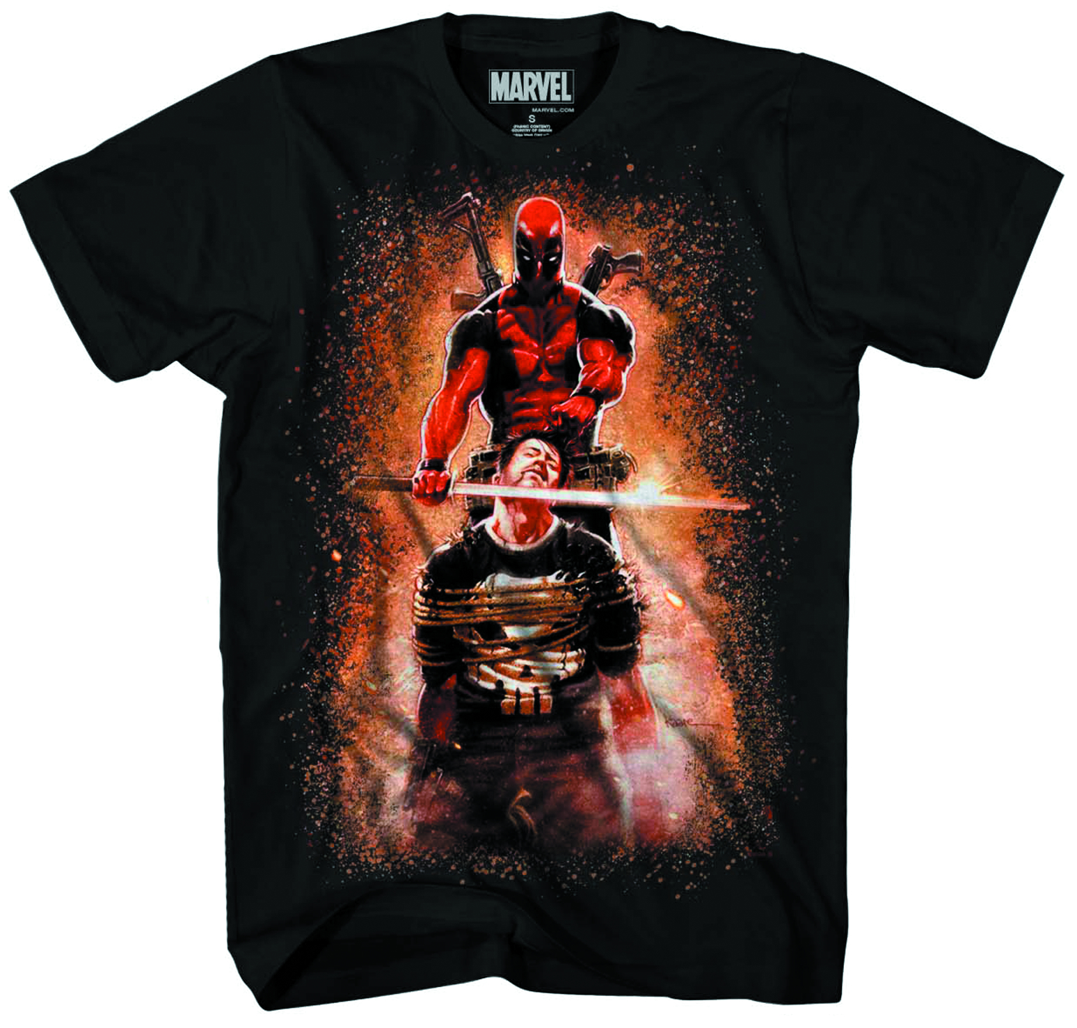 DEADPOOL CRUMBLING CASTLE PX BLK T/S XL