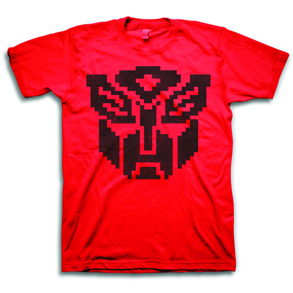 TF AUTOBOT PIXEL SYMBOL PX RED T/S MED