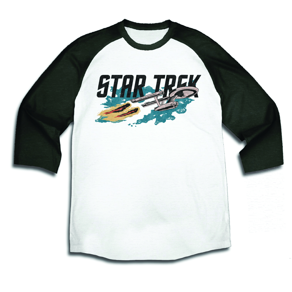 STAR TREK SHIP LOGO PX RAGLAN SHIRT XL