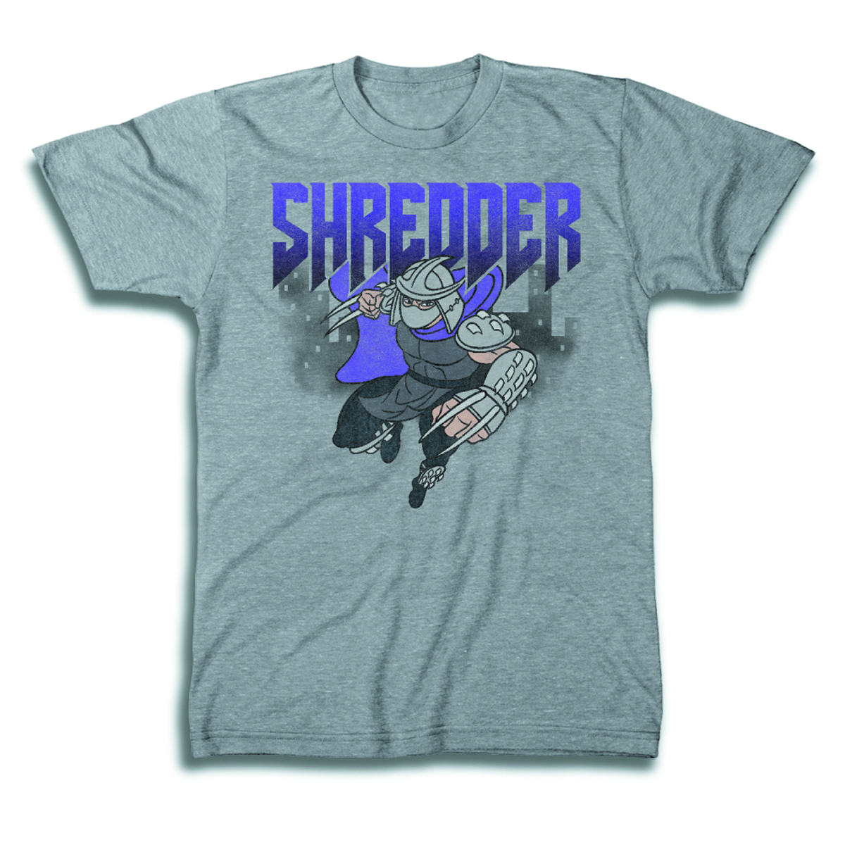 TMNT SHREDDER LEAP HEATHER T/S XL