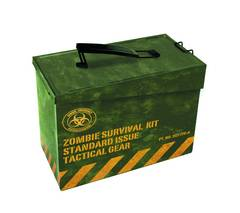 AMMO BOX METAL ZOMBIE SURVIVAL KIT PX LUNCHBOX