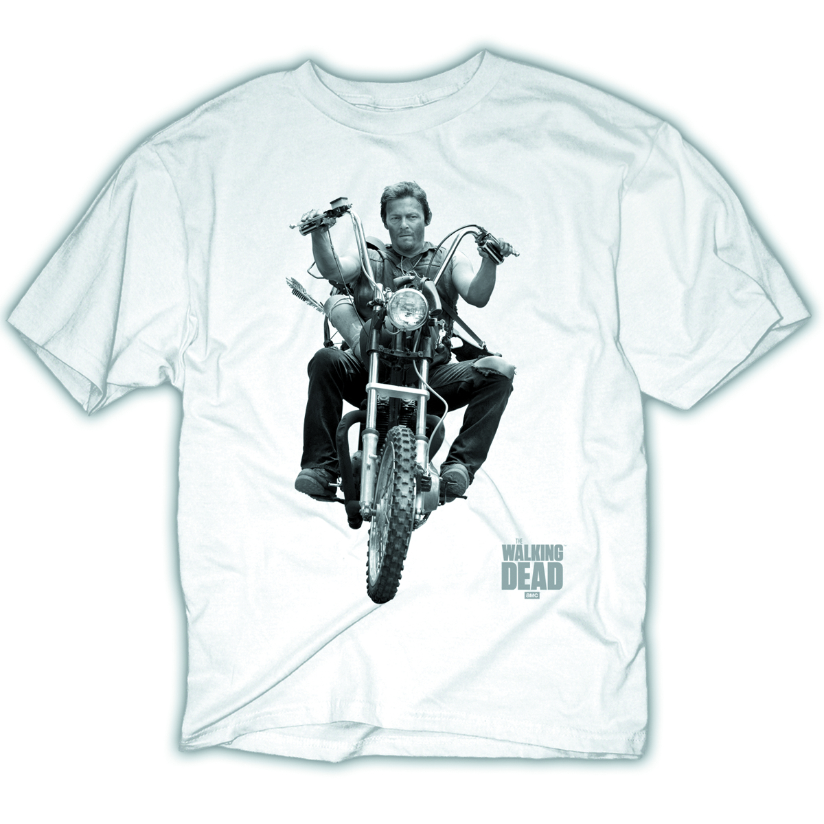 WALKING DEAD DARYL BIKE BLK T/S MED