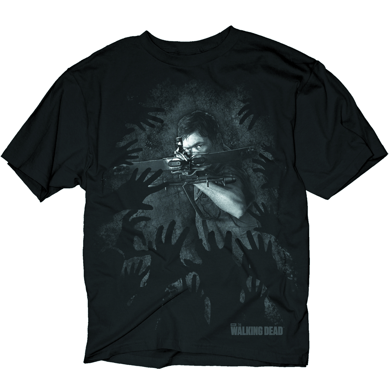 WALKING DEAD DARYL HANDS PX BLK T/S MED