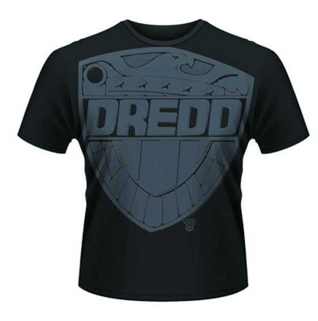 JUDGE DREDD JUMBO BADGE BLK T/S SM