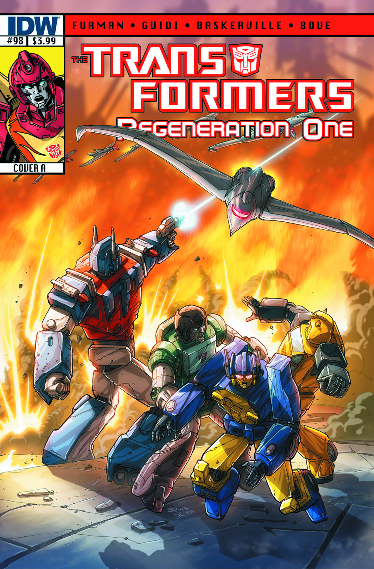 TRANSFORMERS REGENERATION ONE #98 FREE 10 COPY INCV