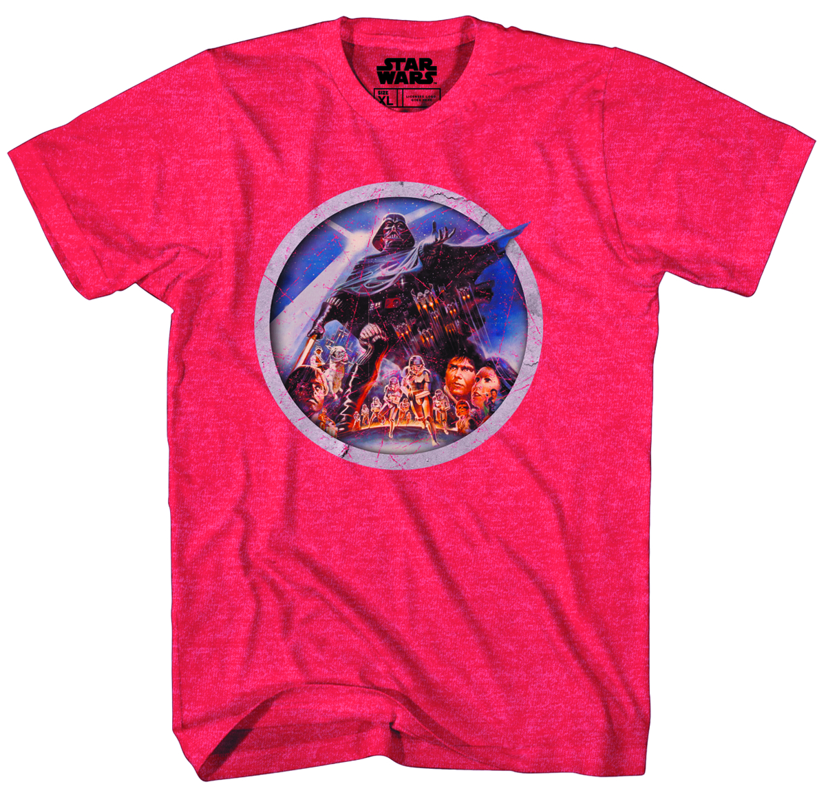 SW PORTHOLE RED HEATHER T/S LG