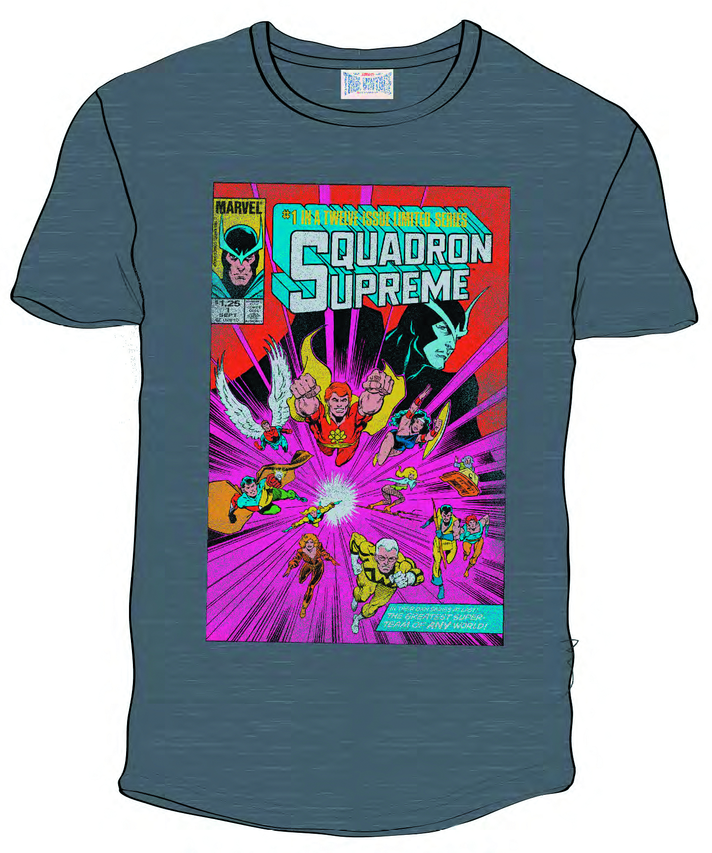 SQUADRON SUPREME PX PLATINUM HEATHER T/S SM