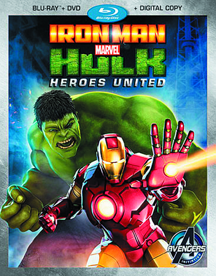 MARVELS IRON MAN AND HULK HEROES UNITED BD + DVD