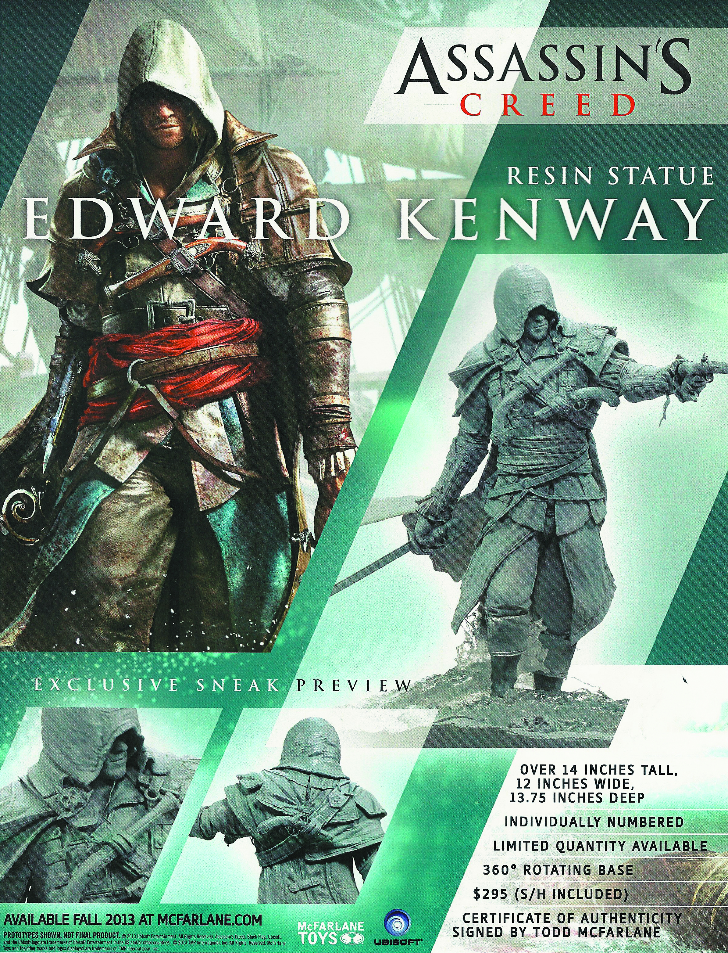 ASSASSINS CREED IV EDWARD KENWAY RESIN STATUE
