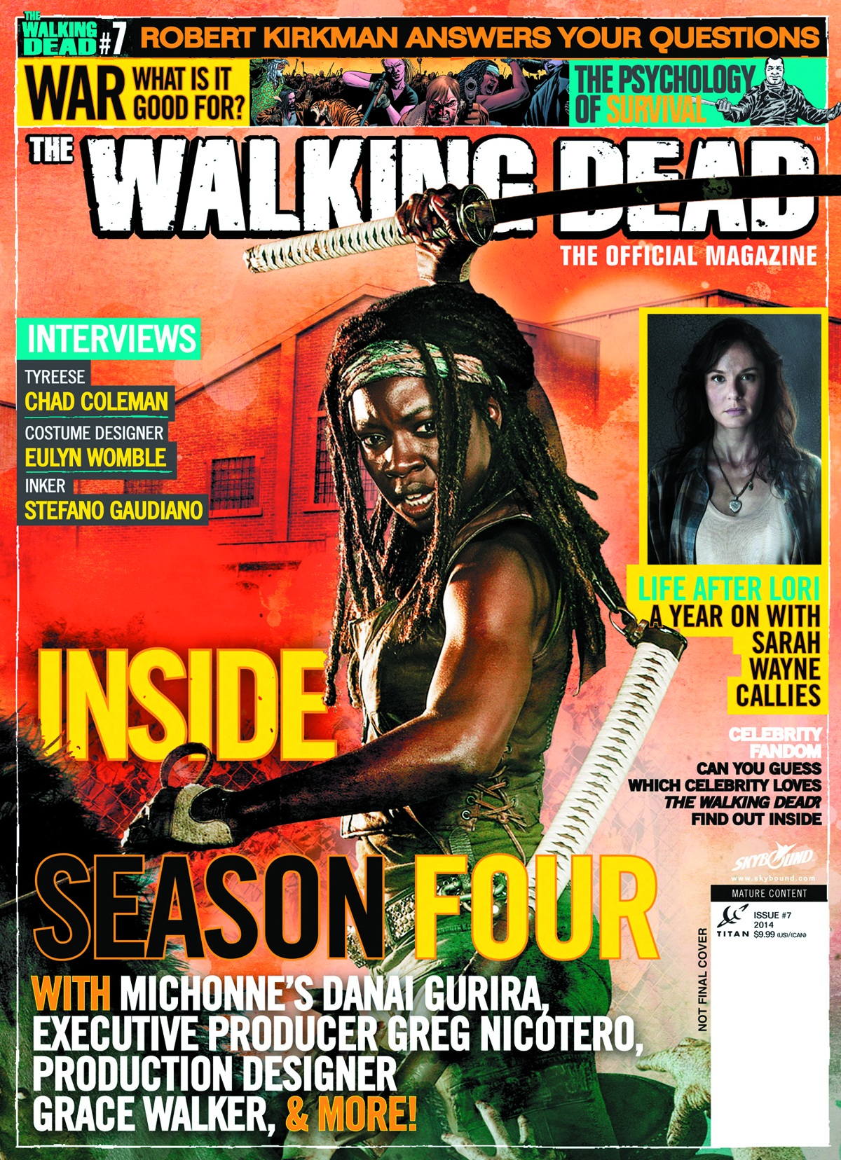 WALKING DEAD MAGAZINE #7 NEWSSTAND ED