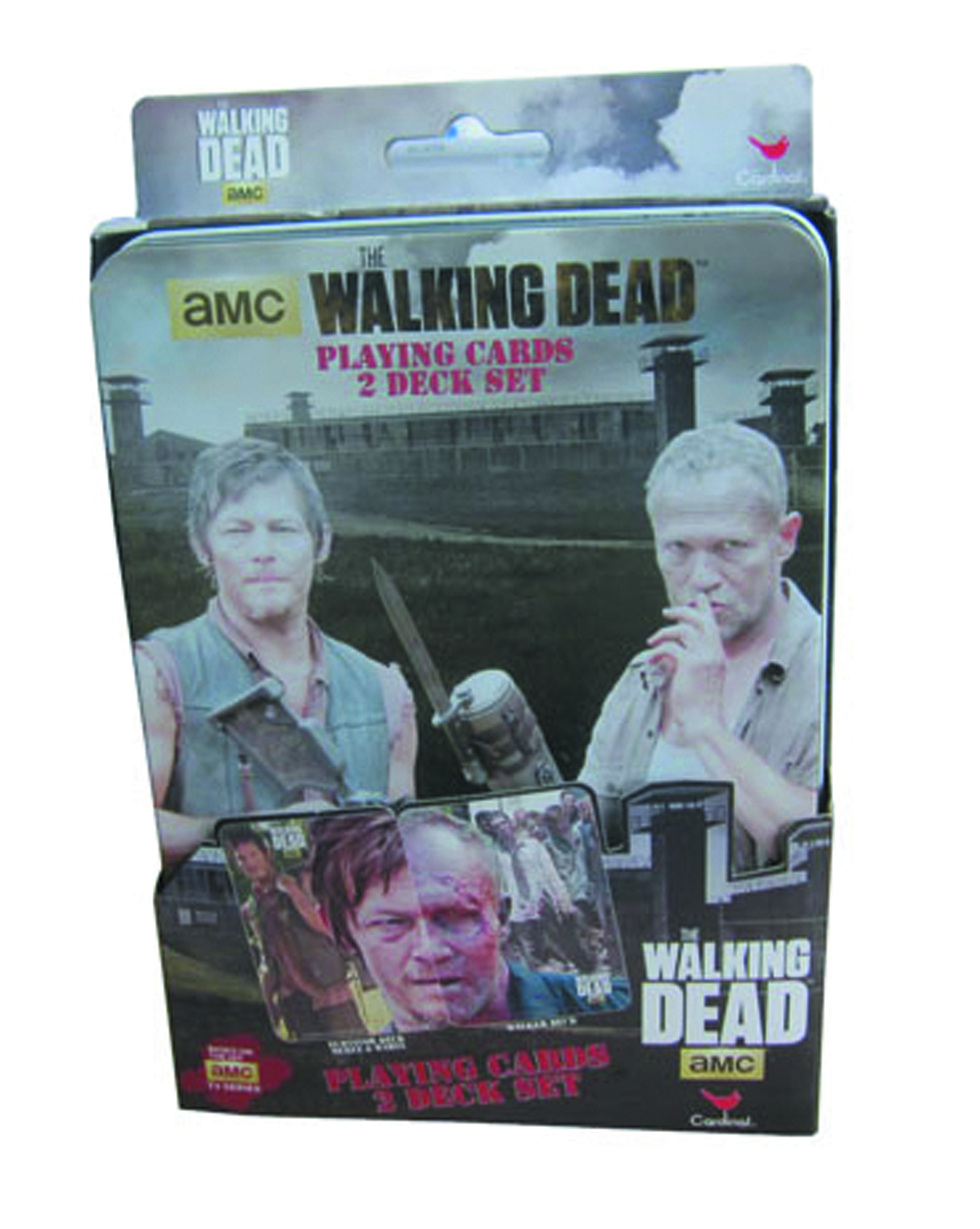 WALKING DEAD PLAYING CARDS TIN 6PC CASE