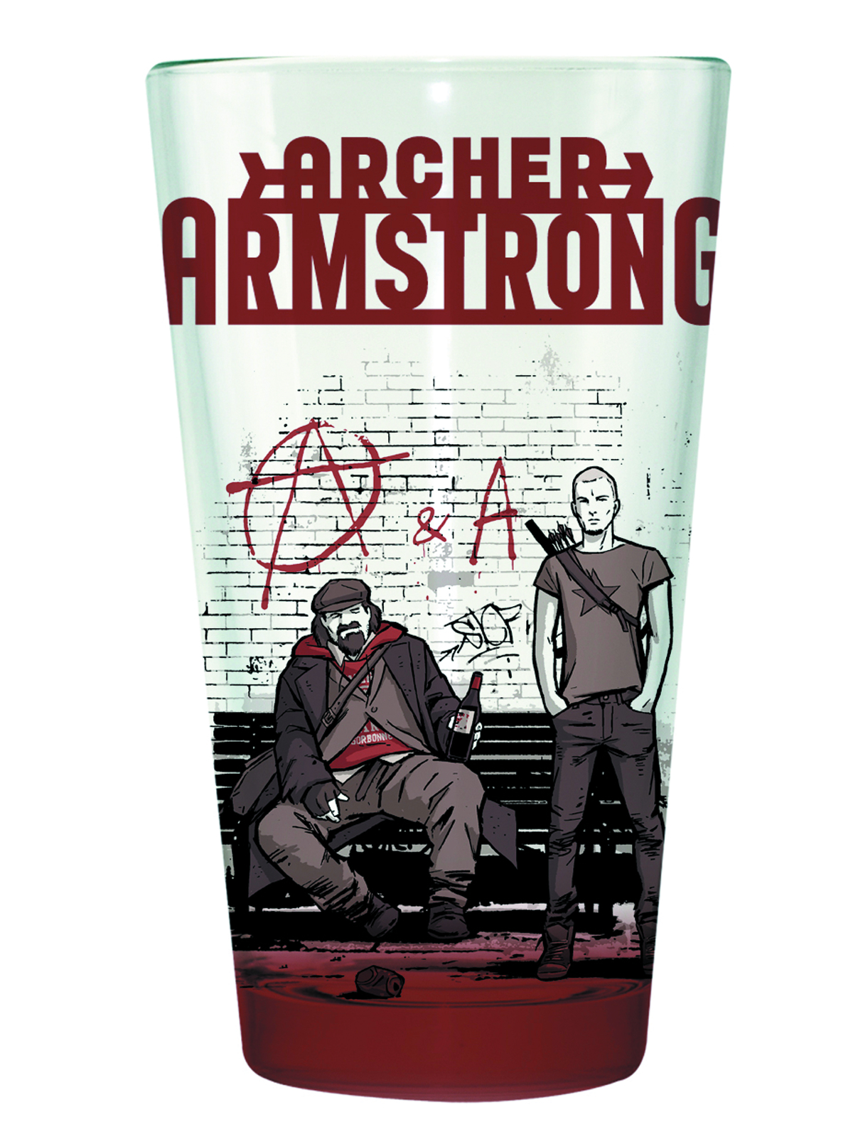 VALIANT ARCHER & ARMSTRONG CLEAR PINT GLASS
