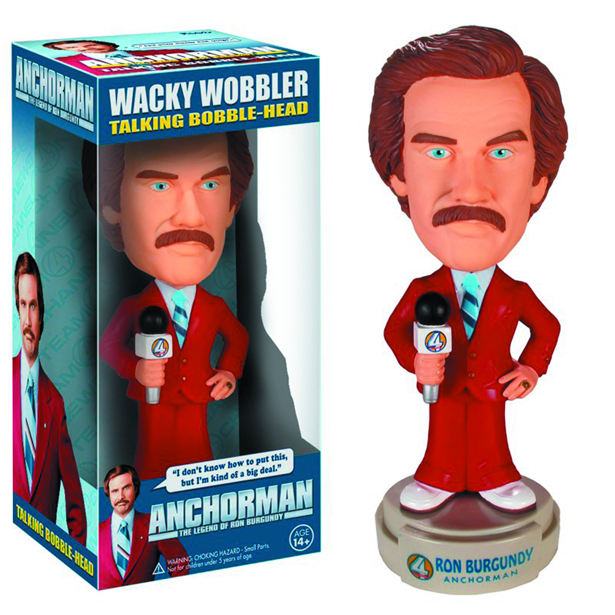 ANCHORMAN RON BURGUNDY TALKING WACKY WOBBLER