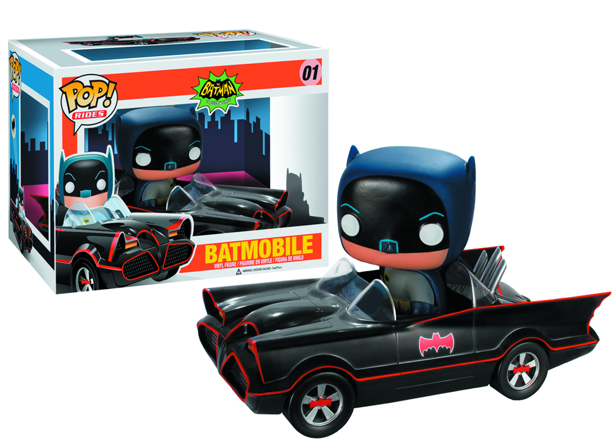 POP BATMAN 66 BATMOBILE VINYL FIG