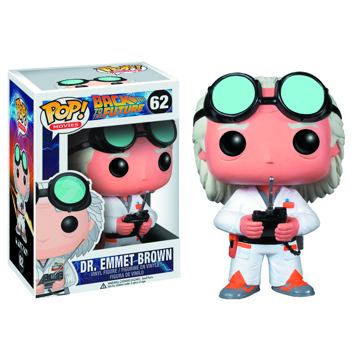POP BACK TO THE FUTURE DOC BROWN VINYL FIG