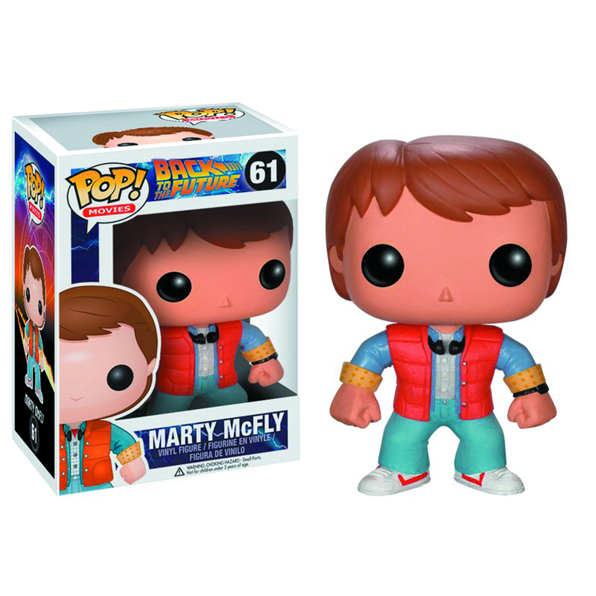 POP BACK TO THE FUTURE MARTY VINYL FIG