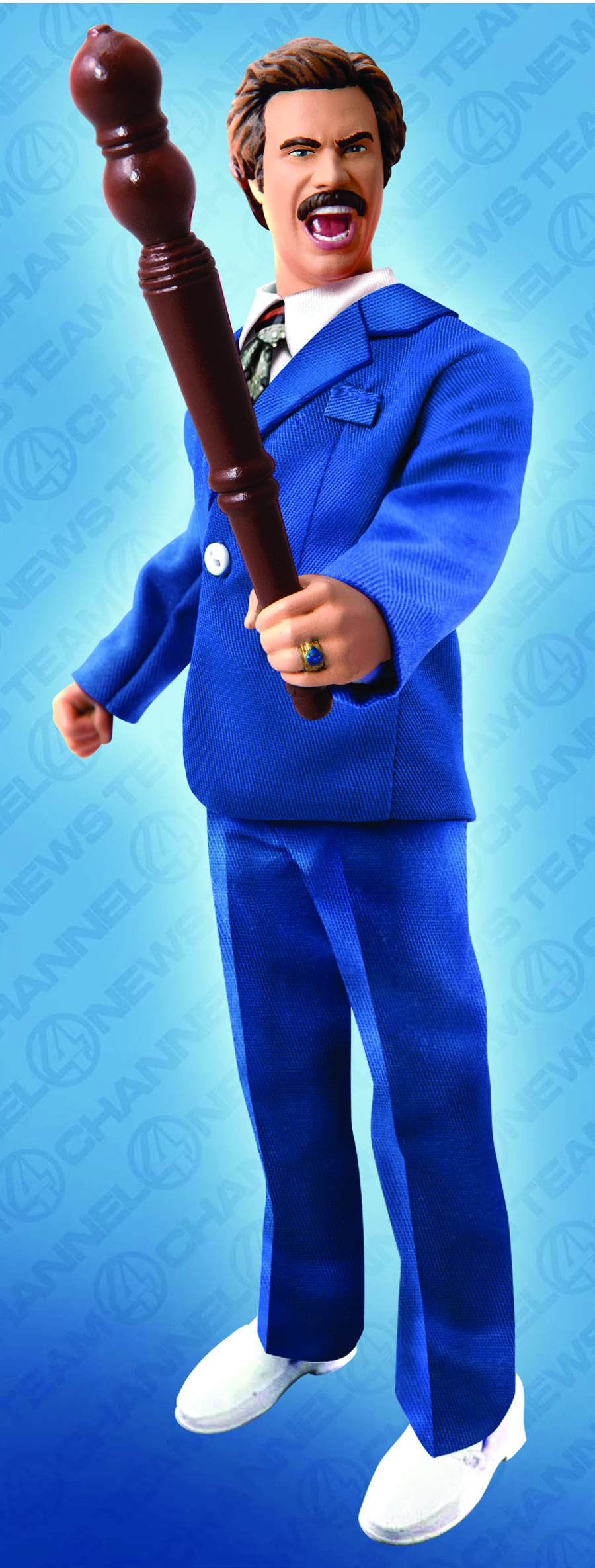 ANCHORMAN 8IN BATTLE READY RON BURGUNDY FIGURE