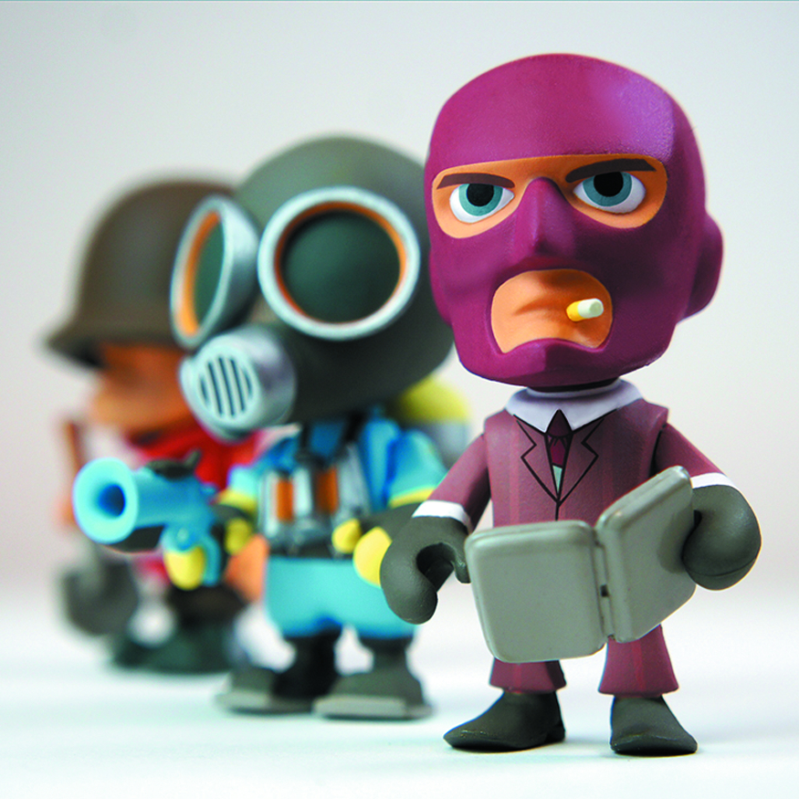 TEAM FORTRESS 2 3IN VINYL FIGURE 12PC BMB