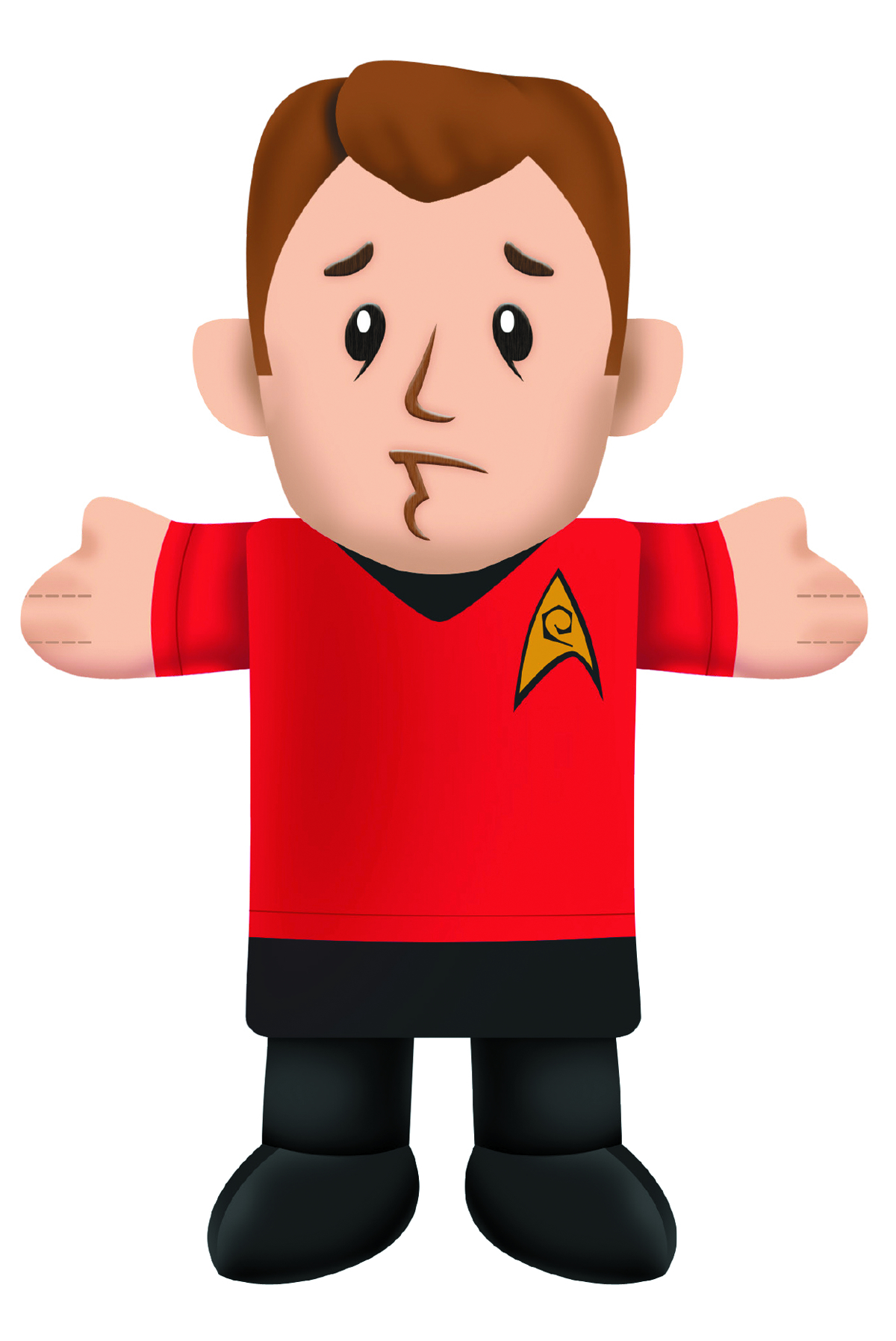 STAR TREK RED SHIRT PLUSH CHEW TOY