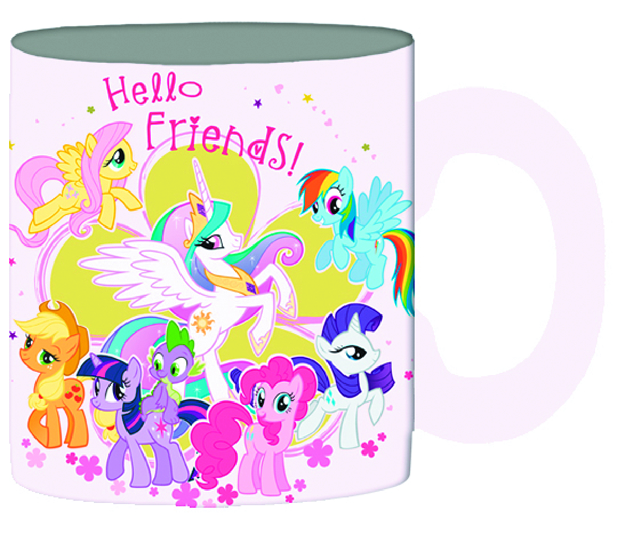 MY LITTLE PONY HELLO FRIENDS GLITTER MUG