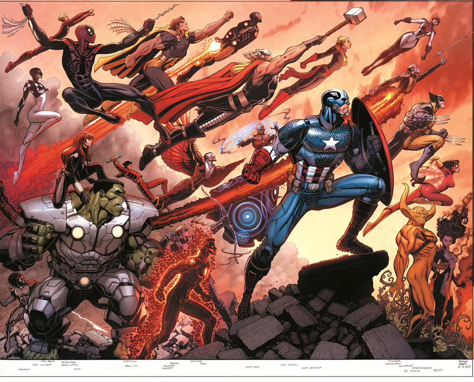 AVENGERS WORLD #1 ADAMS WRAPAROUND VAR ANMN